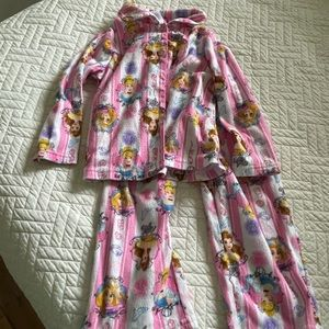 Disney Princess toddler girls flannel pajamas